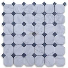 carrara marble tile white 2 inch octagon mosaic w