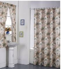 Bathroom Shower Windows by Bathroom Shower Curtain With Matching Rings And Window Curtain Set