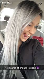 silver hair how to do gray and silver hair using hilifts and olaplex