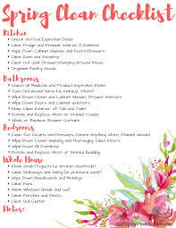 free printable spring cleaning checklist u2022 our happy imperfection