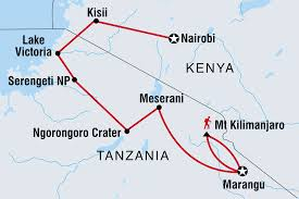 Kenya Blank Map by Serengeti U0026 Kilimanjaro Tanzania Tours Intrepid Travel Au