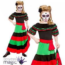girls day of the dead mexican senorita flamenco halloween fancy
