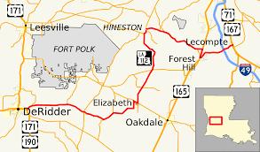 louisiana map fort polk louisiana highway 112