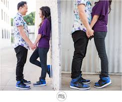 matching shoes for him and arcadia arboretum town pasadena engagement portraits