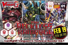cardfight vanguard cardfight vanguard reckless rampage booster case potomac