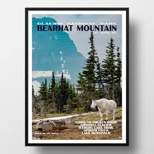 Wyoming travel posters images Montana and wyoming national park posters just go travel studios jpg