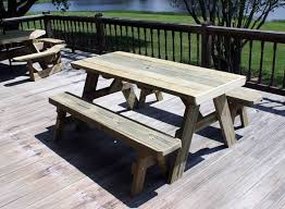 picnic table with separate benches furniture marvelous picnic table with separate benches plans round