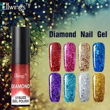 aliexpress com buy ellwings 1pcs diamond hybrid gel nail polish