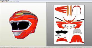 wild force power rangers helmet foam template