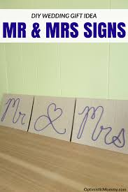 diy wedding signs diy wedding signs mr mrs wedding gift idea optimistic