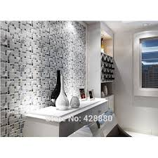 Silver Metal And Glass Tile Backsplash Ideas Bathroom Brushed - Glass and metal tile backsplash