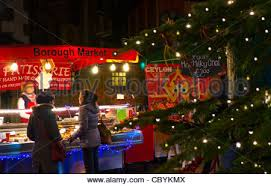 christmas tree lights at night market place st neots town