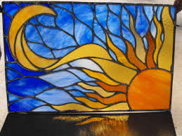 sun moon stained glass search stained glass