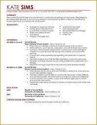 Sample Counselor Resume Best Sample Social Work Resumes Resume Template Example
