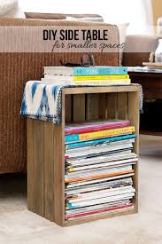 Diy Side Table Diy Side Table That U0027s Perfect For Your Small Space