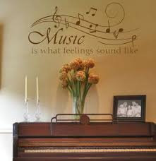 Musical Note Decorations Chic Music Room Wall Ideas Silhouette Guitar Heads Music Music