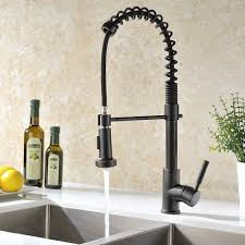kitchen sprayer faucet caseros rubbed bronze kitchen sink faucet with pull sprayer