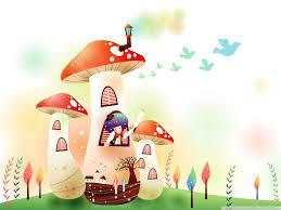 wallpaper cute house childhood fairytales mushroom house 4k hd desktop wallpaper for
