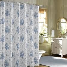 Shower Curtains For Blue Bathroom Blue Floral Shabby Chic Shower Curtains Sets For Bathroom