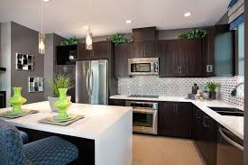 Small Kitchen With Dark Cabinets Kitchen Designs Best Countertop Color White Cabinets Small