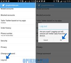 cara membuat twitter di handphone cara log out atau keluar dari twitter di android