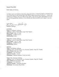 letter template for visa