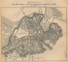 Boston Map 1776 by The North End