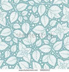 mint wrapping paper mint leaf pattern peppermint leaves sketch stock vector 586093217