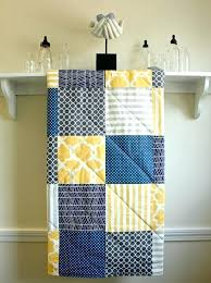 baby quilt navy grey and yellow gender neutral crib quilt gender