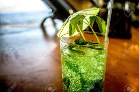 mojito cocktail fancy mojito cocktail on a drink bar stock photo picture and
