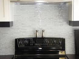 white glass tile backsplash created new glass tile backsplash