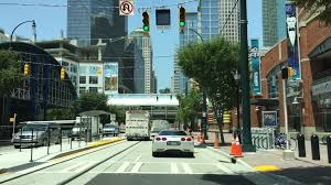 driving downtown charlotte north carolina usa youtube