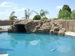 rock waterfall pool ideas true blue pools