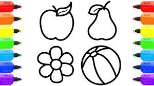 baby drawings fruit toy flower coloring pages for kids youtube