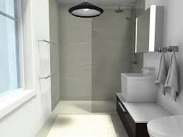 Narrow Bathroom Designs Colors Floor And Curbless Shower Gives This Narrow Bathroom A Clean Open