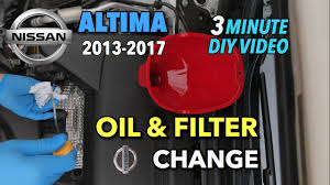 nissan altima 2015 recommended oil nissan altima oil u0026 oil filter change 2013 2017 youtube