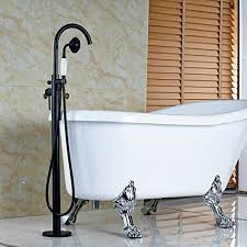 free standing bathtub faucet votamuta oil rubbed bronze new floor mounted bathroom tub shower