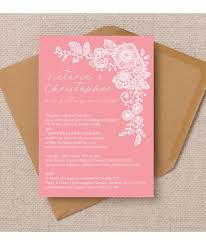 Lace Wedding Invitations Floral Lace Wedding Invitations U0026 Stationery