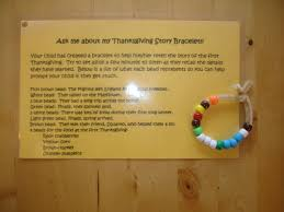 play and learn with thanksgiving story bracelet