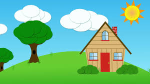 house animated stock video animated house and clouds and sun 23296959