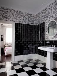 scenic bathroom black andhite pics ideas accessories retro floor