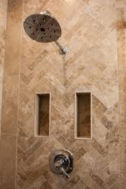 travertine tile ideas bathrooms a herring bone travertine tile pattern thetileshop bathroom