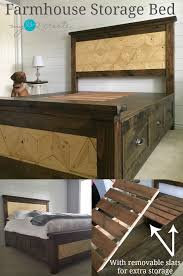 Bed Frame With Storage Plans 25 Best Storage Beds Ideas On Pinterest Diy Storage Bed Beds