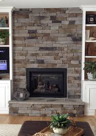 stone for fireplace how to create the stacked stone fireplace look on a budget martha