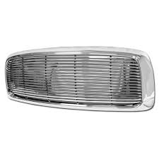 dodge ram white grill billet style abs grill 2002 2005 dodge ram horizontal replacement