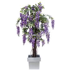 6 artificial silk purple wisteria tree with planter dongyi