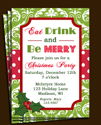 festive floral circle christmas invitation template for everyone