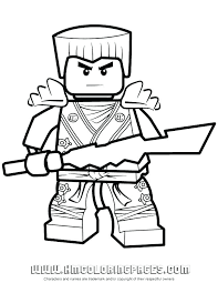 Ninjago Kai Coloriages Facile A S Simple Robot A Coloriage Ninjago
