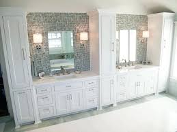 tall linen cabinet for bathroom traditional mosaic tile bathroom