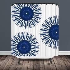 indigo blue shower curtain